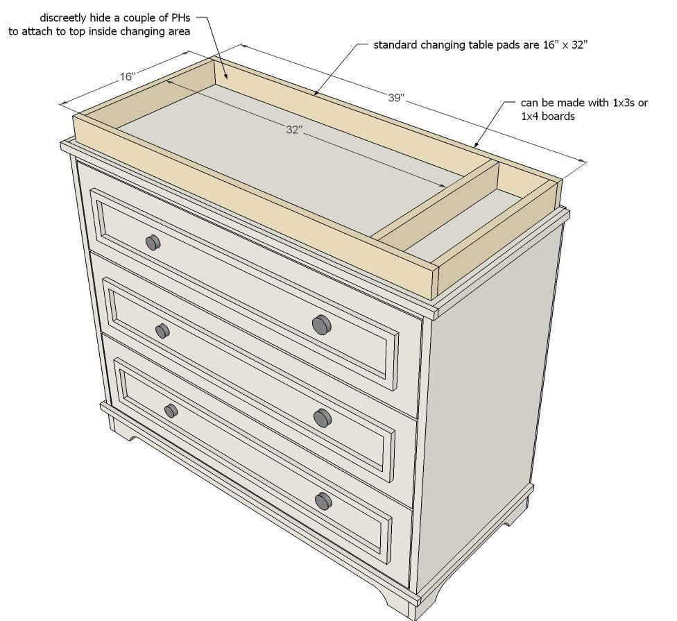 Fillman Dresser Or Changing Table Diy Baby Furniture Baby Crib