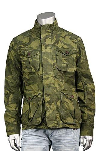 8dfa74927477 Jordan Craig Camo Cargo Jacket Olive - Dark Olive Xl
