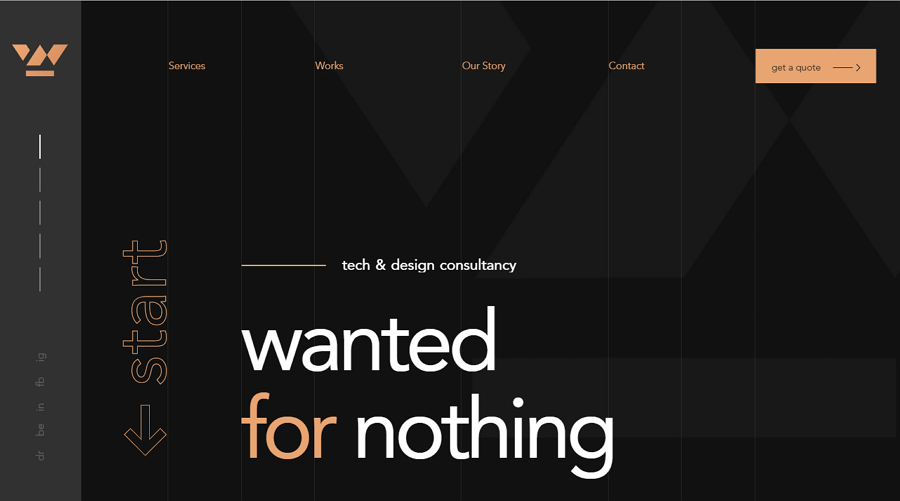Wanted For Nothing Responsive Clean Website Template Website Template Minimalist Web Design Simple Website Templates