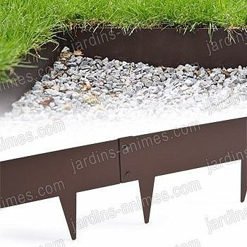 Bordurette m tal acier 1m fran ais peinture epoxy for Bordure de jardin en metal