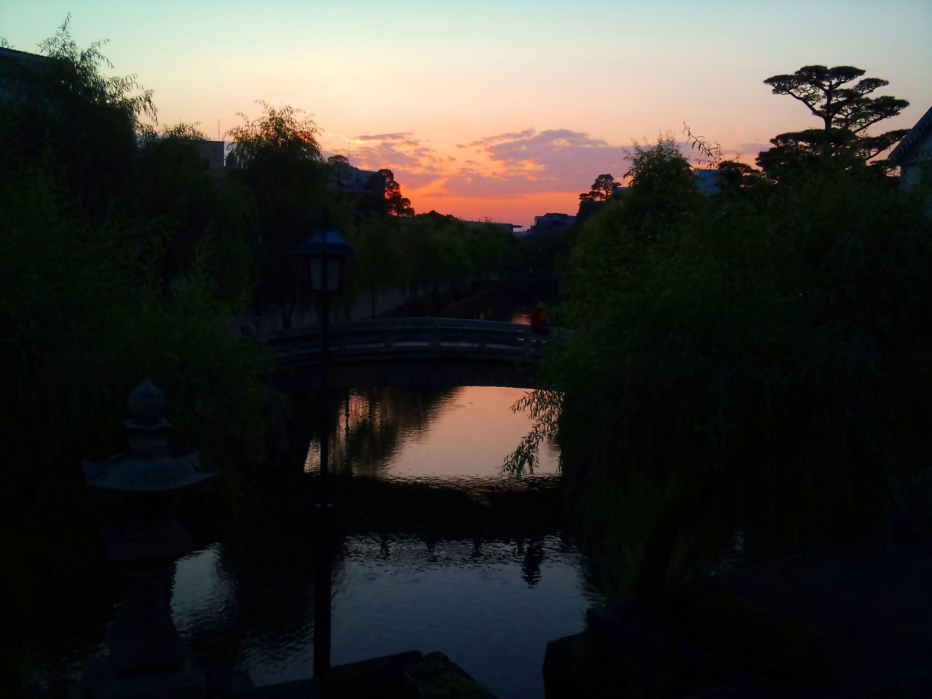 倉敷美観地区の夕焼け