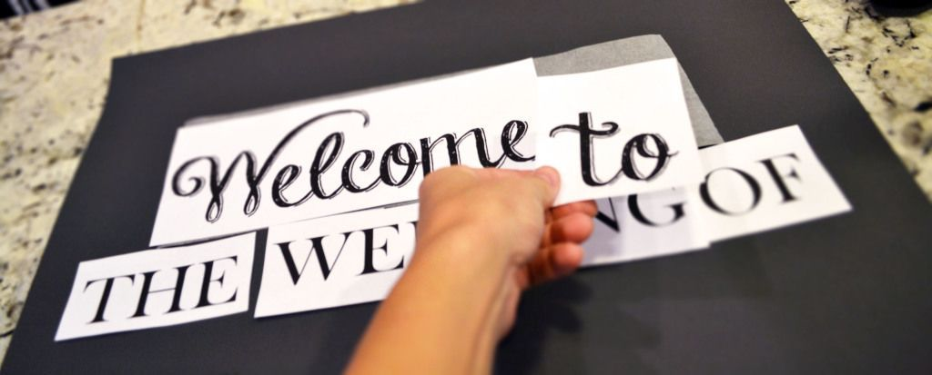 Diy Chalkboard Wedding Signs A Simple Hack Miss Bizi Bee Diy