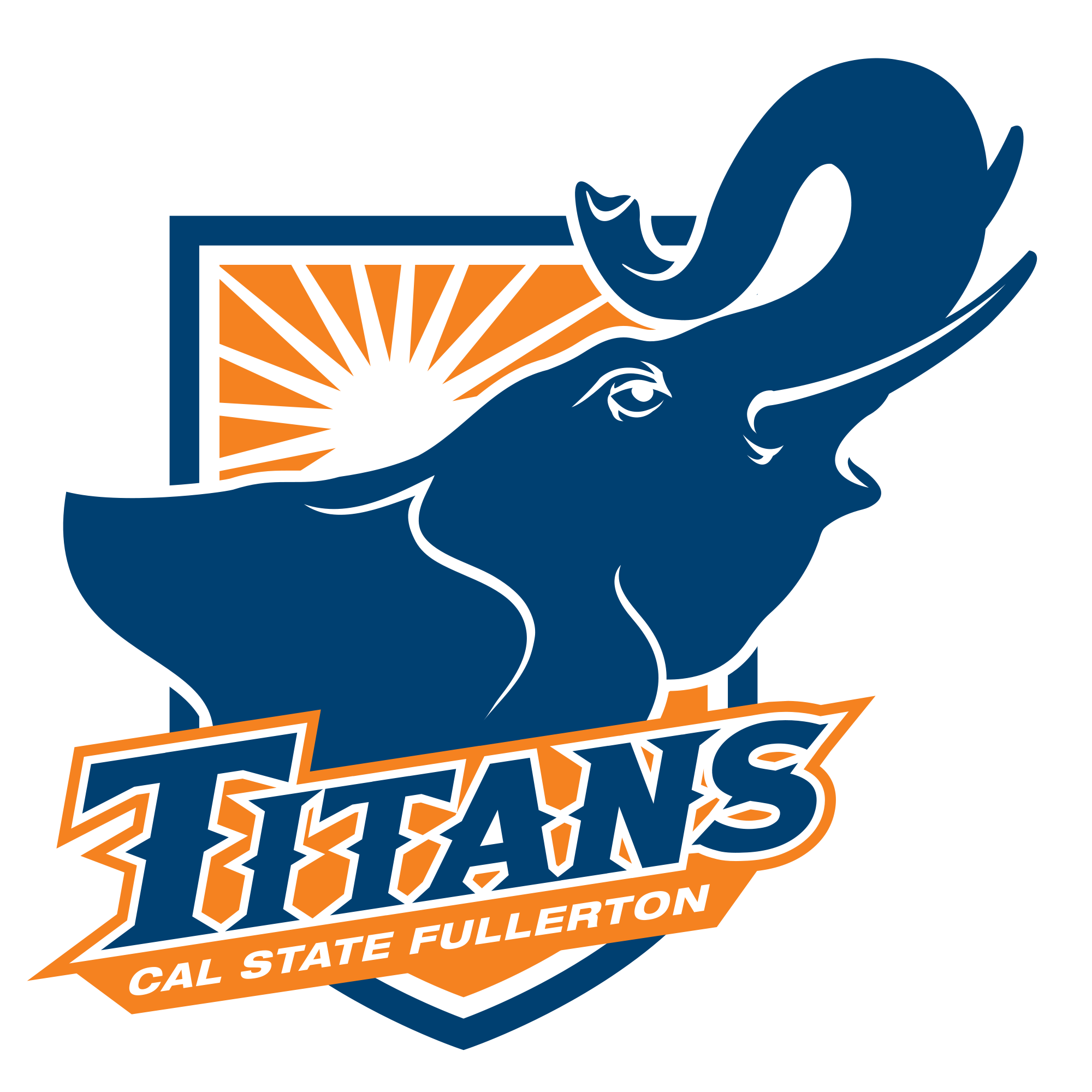California State University At Fullerton Epsilon Tau Chapter College Logo Cal State Fullerton