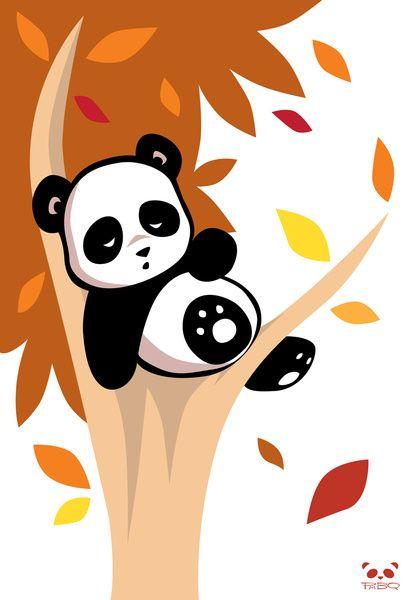 Sleepy Panda In A Tree Art Print By Pmbq Society6 Panda Art Cute Panda Wallpaper Panda Wallpapers Panda cartoon wallpaper hd download