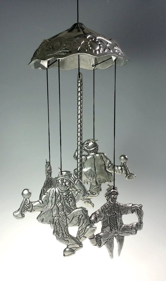 Very Nice, Vintage, Carson, Hobo Canopy, Pewter, Wind Chime. Item