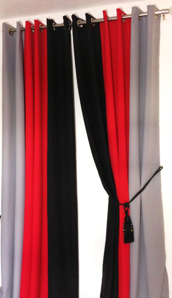 Details about Eyelet curtains Ring Top Fully Lined Pair ...