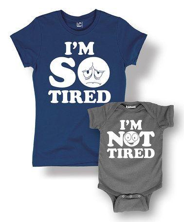 Tired /& Not Tired Mens T Shirt /& Baby Bodysuit
