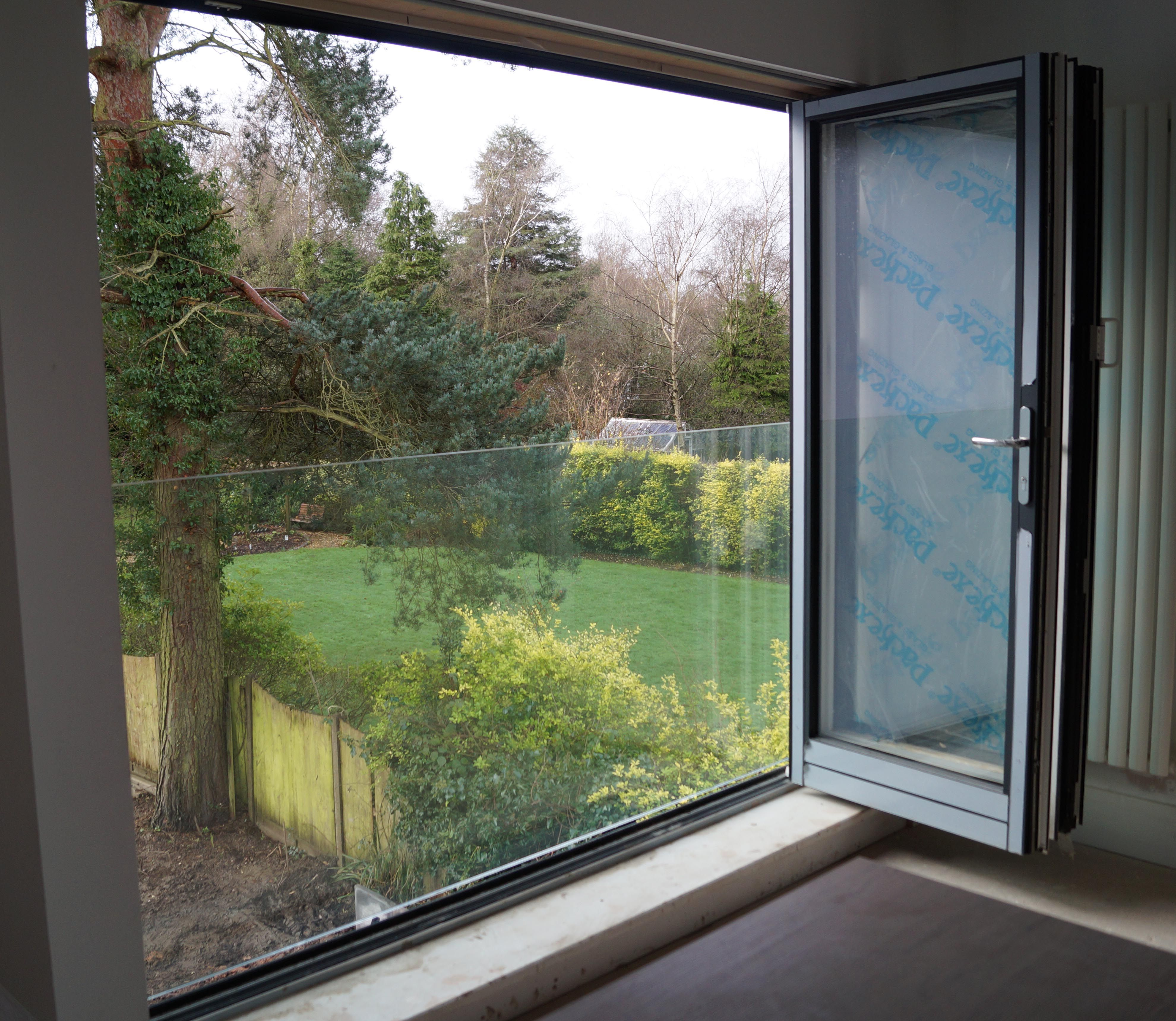 Glass juliet balconya clear view from a frameless glass for French juliet balcony