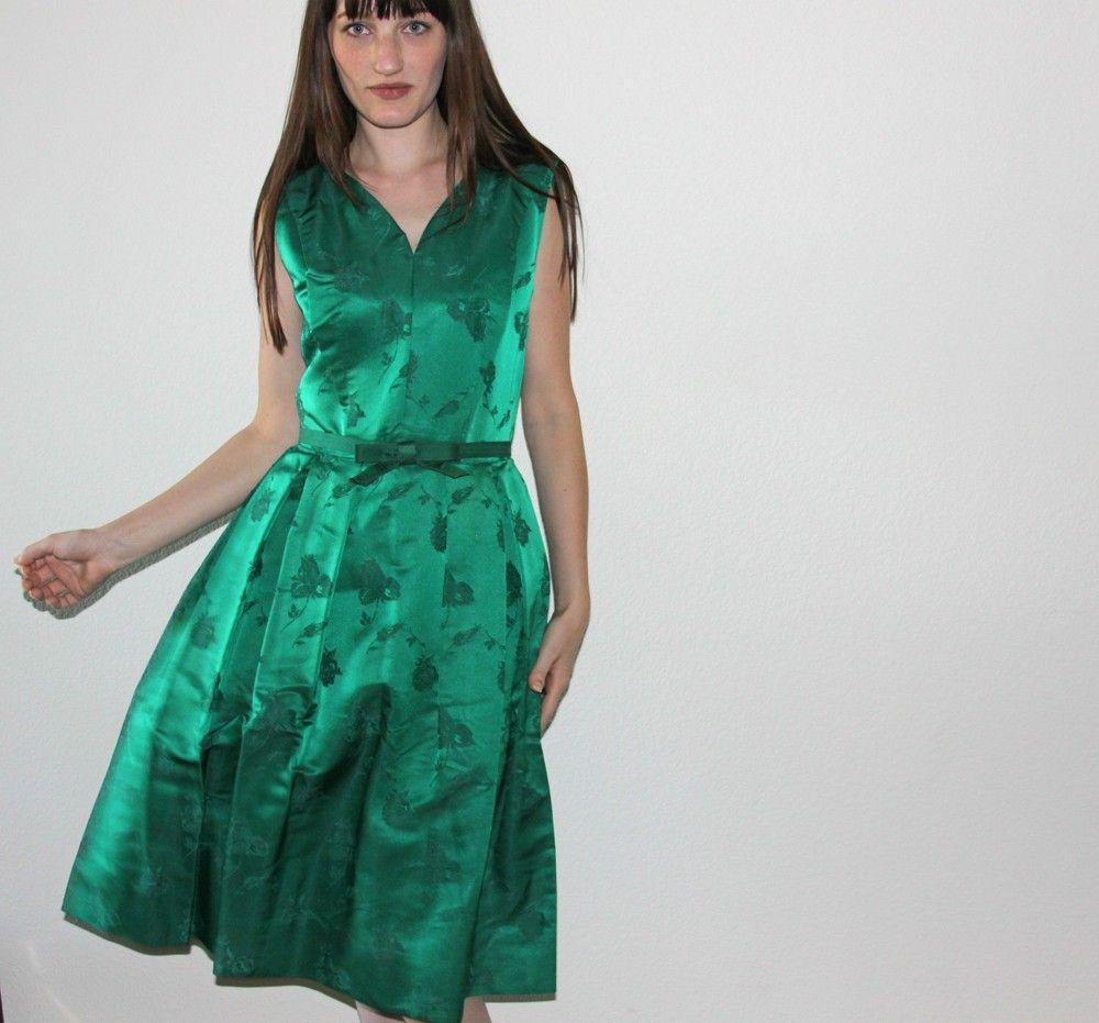 vintage 1950s Emerald Green Party Dress | STC Vintage Men & Women ...