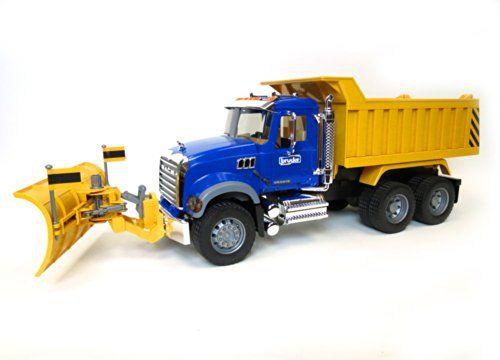Bruder Mack Granite Dump Truck With Snow Plow Blade Dump Trucks Snow Plow Trucks