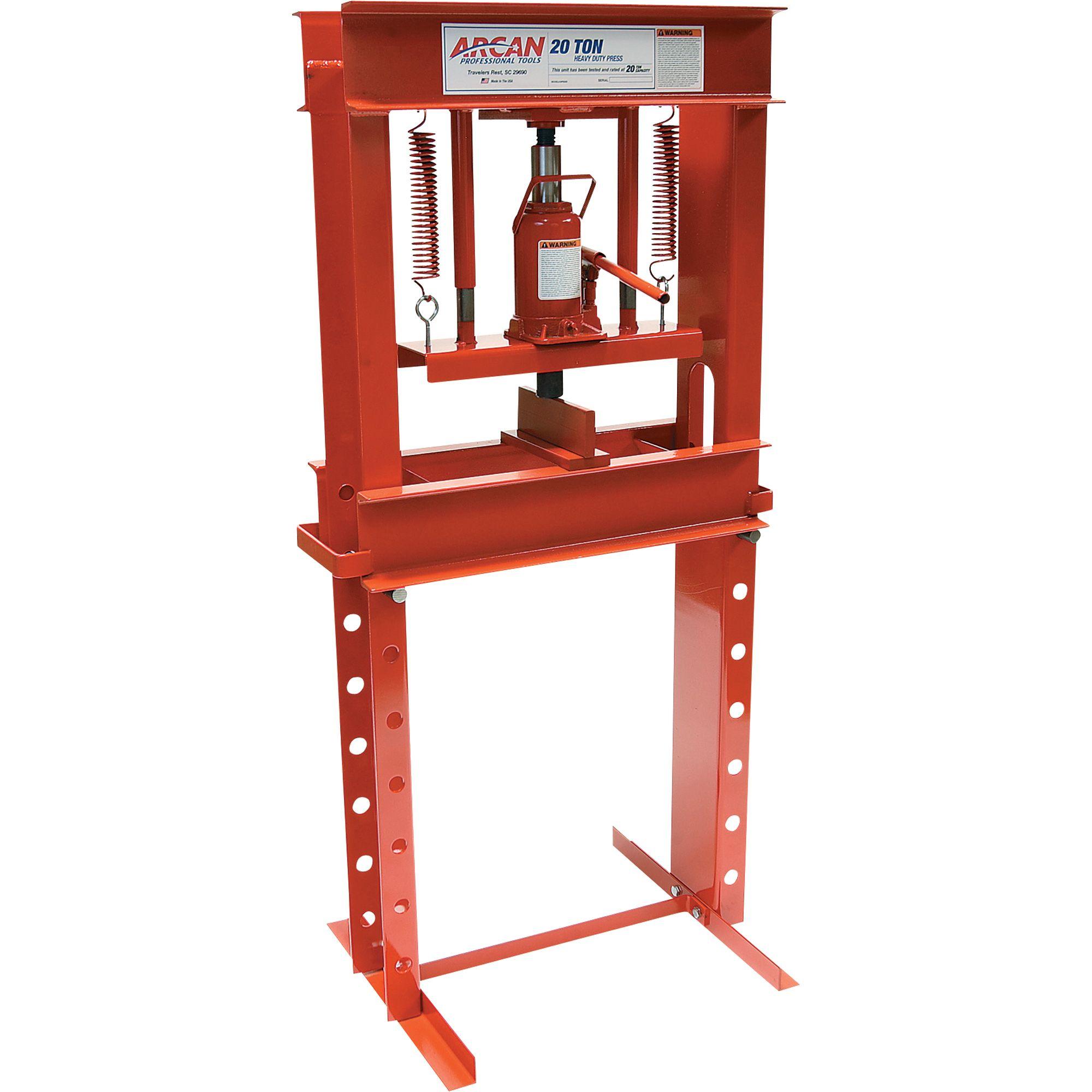 Arcan 20-Ton Hydraulic Shop Press — Model# CP20 | Shopping, Diy ...