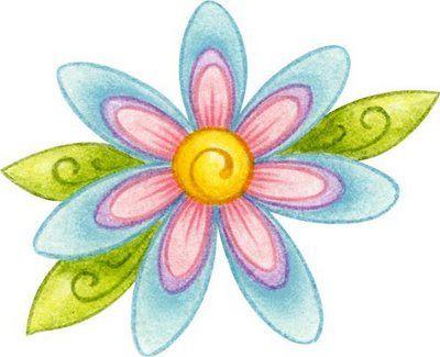 Flores Dibujos A Color