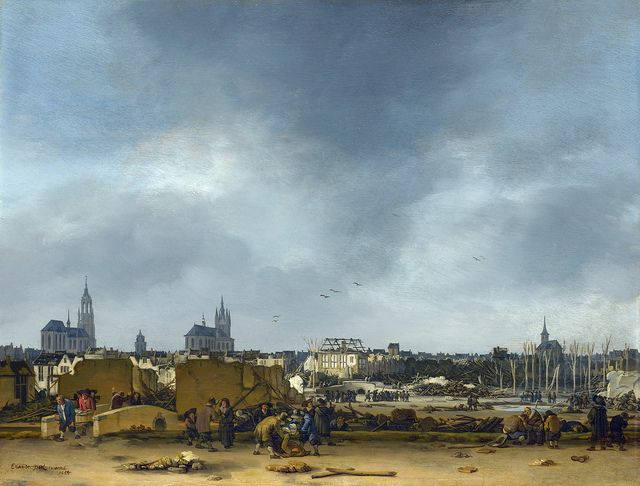 Egbert van der Poel - A View of Delft after the Explosion of 1654 [1654]