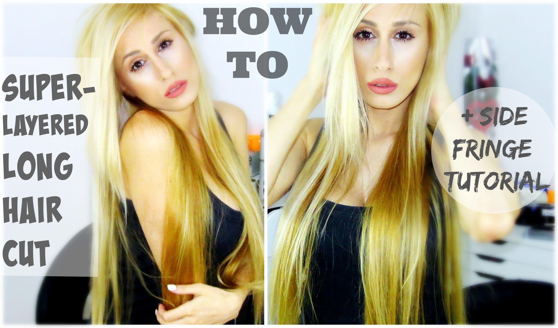 How I Cut My Own Hair Edgy Layered Long Hair Side Fringe Dyna