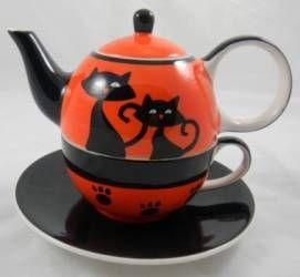 Orange Cats Tea for One