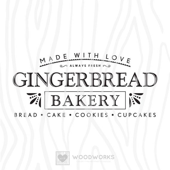 """Download SVG / DXF - Made With Love """"Gingerbread Bakery"""" - Always ..."""