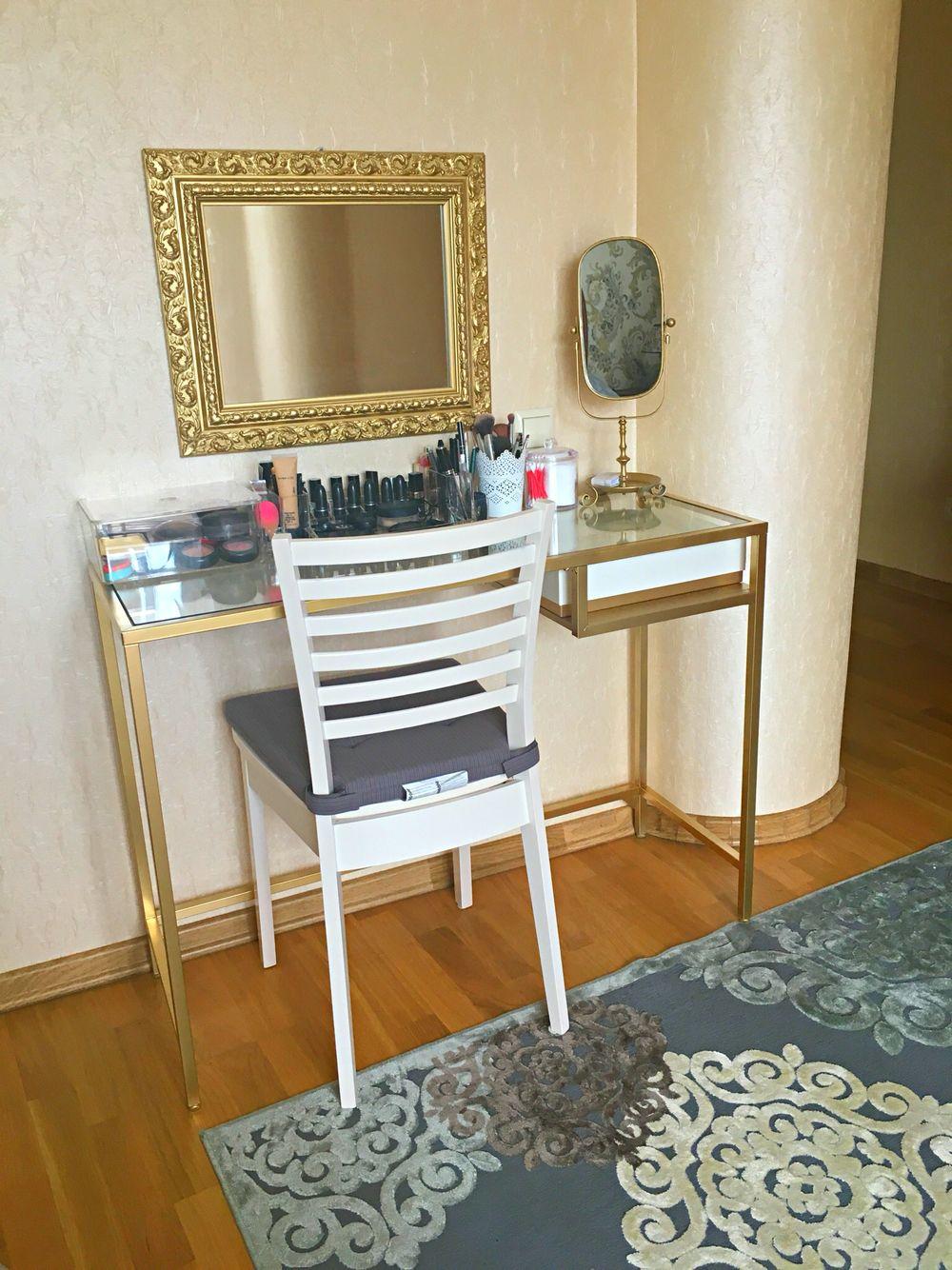 I Turned Ikea Vittsjo Laptop Table To My Little Vanity