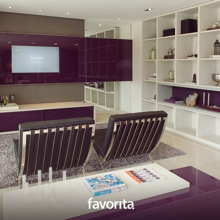 Um toque de cor é capaz de transformar ambientes neutros. Se inspire na lacca Granada para deixar sua casa mais alegre e moderna. :) #favoritaplanejados #móveisplanejados