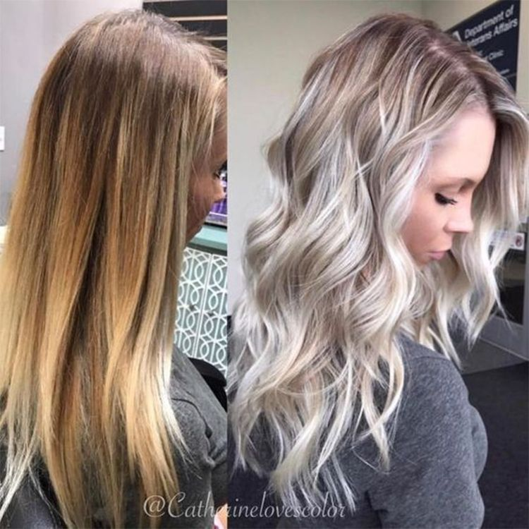 49 Hair Color Trends In 2019 Before & After: Platinum On Hair + Tips #platinumblondehighlights