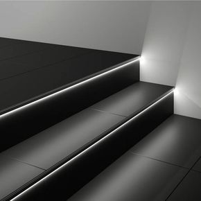 treppen selber fliesen geflieste treppe mit beleuchteten stufen treppe pinterest. Black Bedroom Furniture Sets. Home Design Ideas