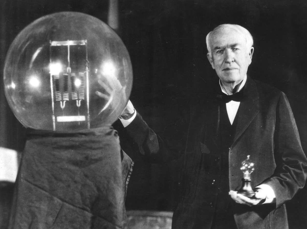Illustratie Bij Volharding Thomas Alva Edison1847 1931