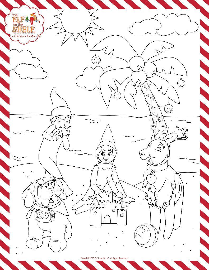 Christmas In July Printable Kids Coloring Pages Activities For Kids Christmas Coloring Pages Colouri Weihnachten Elf On The Shelf Weihnachtstraditionen