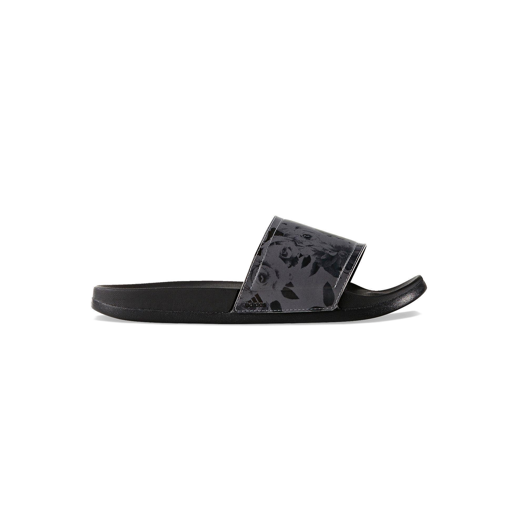 reputable site 36132 a1c9d ... Adidas Adilette Cloudfoam Print Women s Slide Sandals, Size 11, Black  promo codes 17675 ...