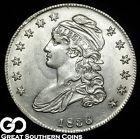 1836 Capped Bust Half Dollar Blast White & Super Lustrous Choice BU Silver!