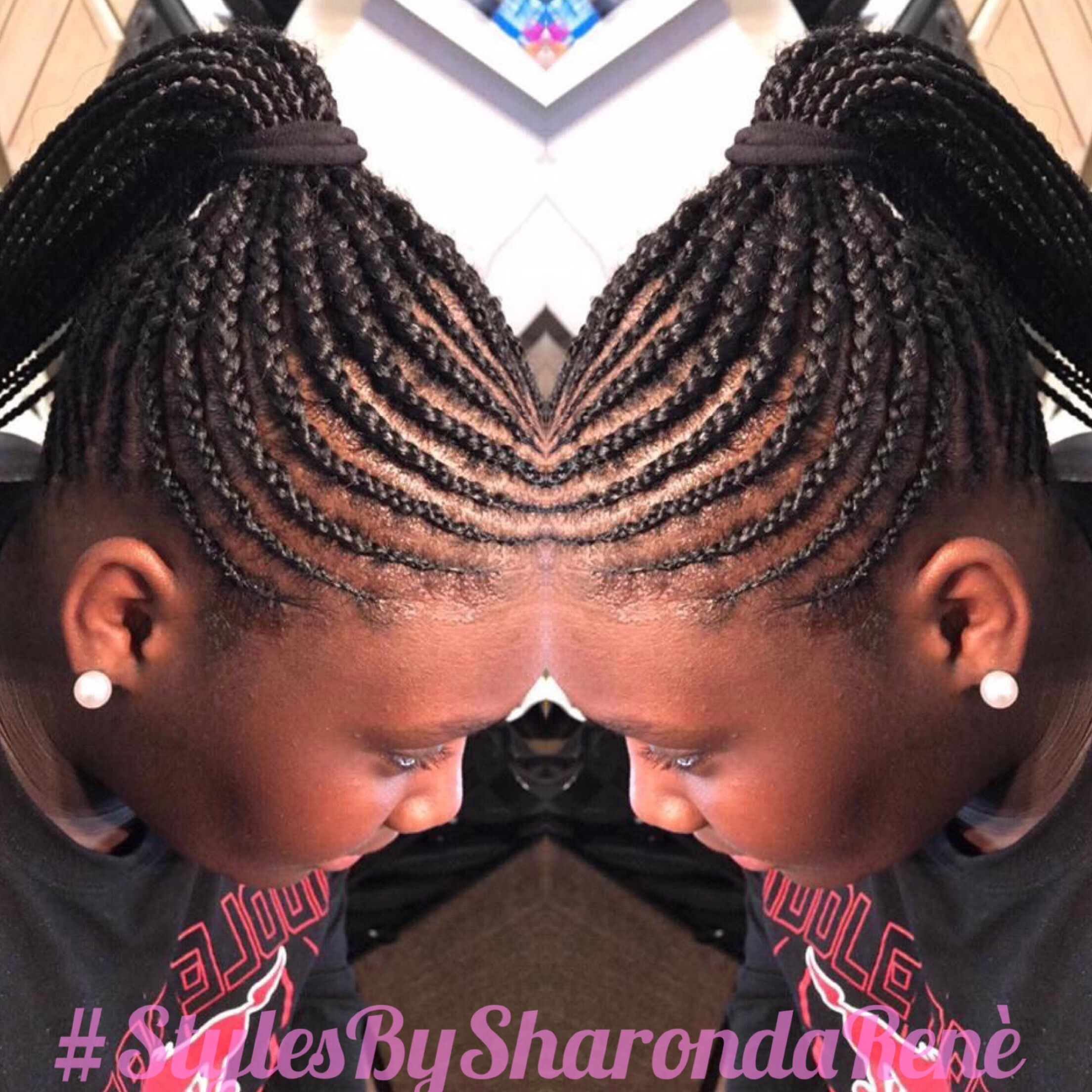 Braided Ponytail Basic Cornrows With Extensions Added All Natural Style For 9 Year Old Cornrows With Extensions Braided Ponytail Kids Braids