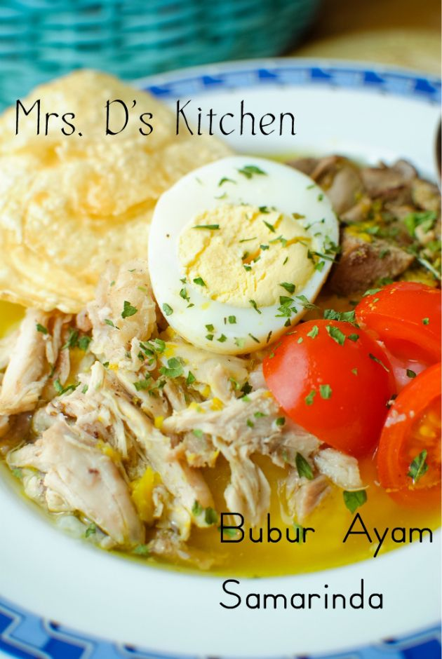 Bubur Ayam Samarinda Ayam Resep Nasi