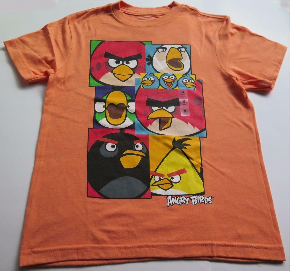 2fa47ba507ebcf Angry Birds Orange T-Shirt Boys Kids Size M