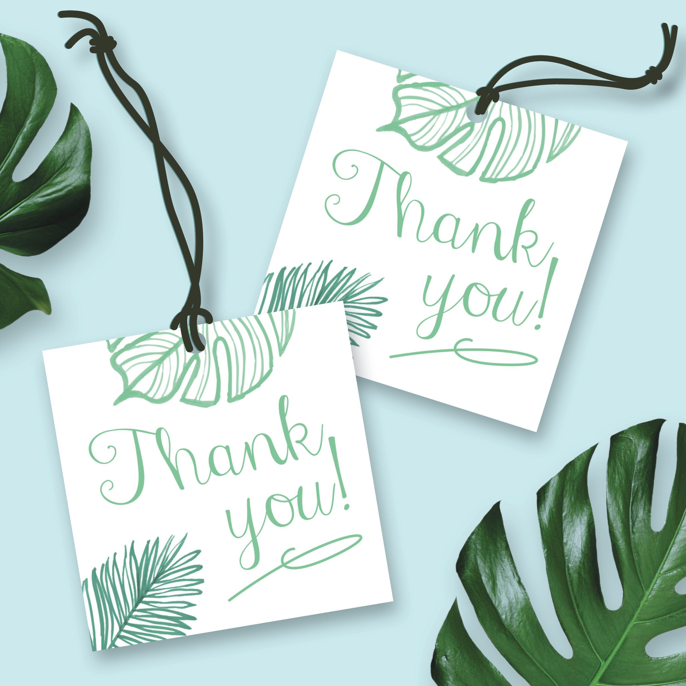 Tropical Gift Tags Palm Tree Gift Tags Present Tags Blank Gift Tags Nautical Gift Tags Parcel Tags Tropical Wedding Favor Tags