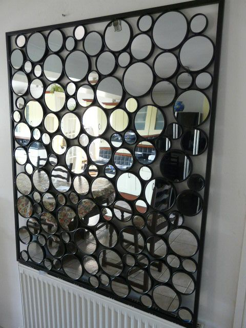contemporary-metal-wall-art-glass-pebble-mirror-Mirror-Wall-Art-wall ...