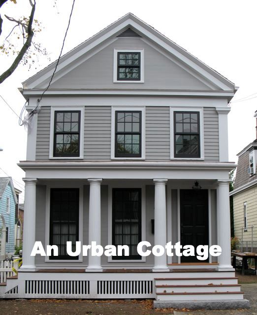 Greek Revival Exterior Renovation Before And After Body Paint Color Graystone Bm Cottage And