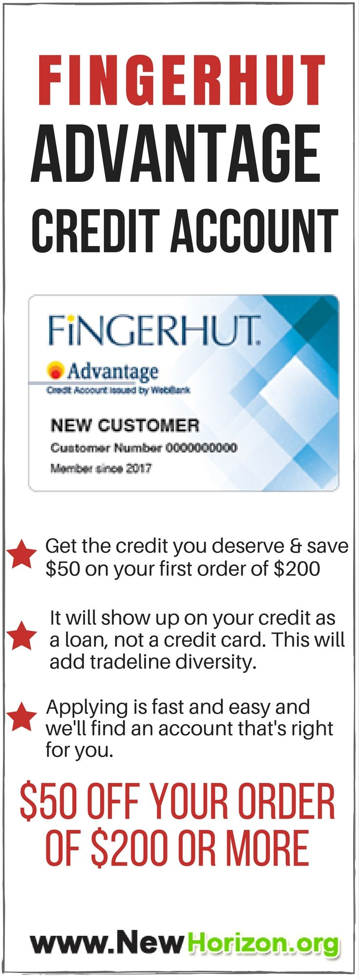 Get the credit you deserve and save 50 on your first