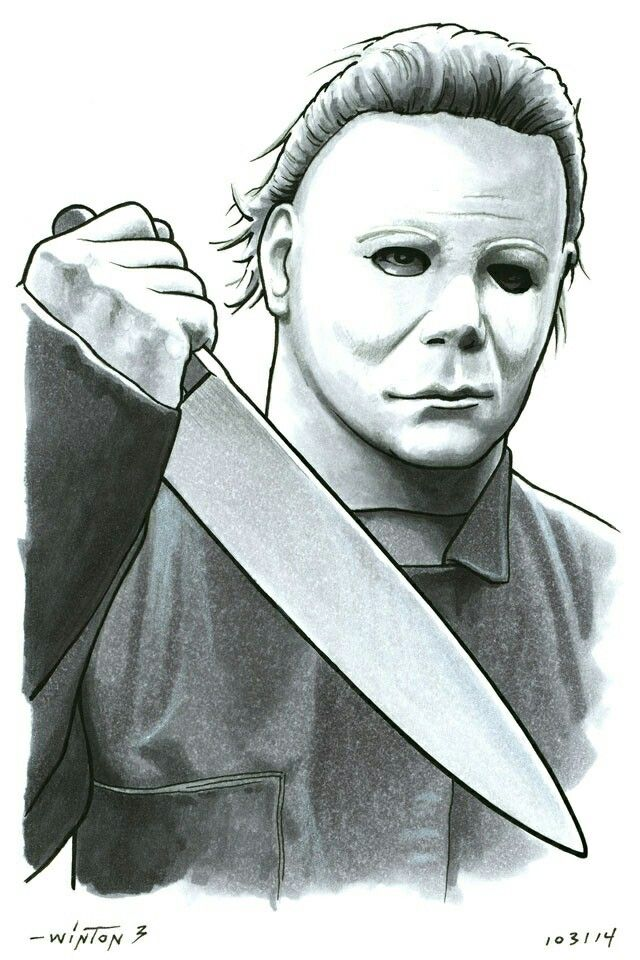 Michael Myers With Images Michael Myers Drawing Michael Myers
