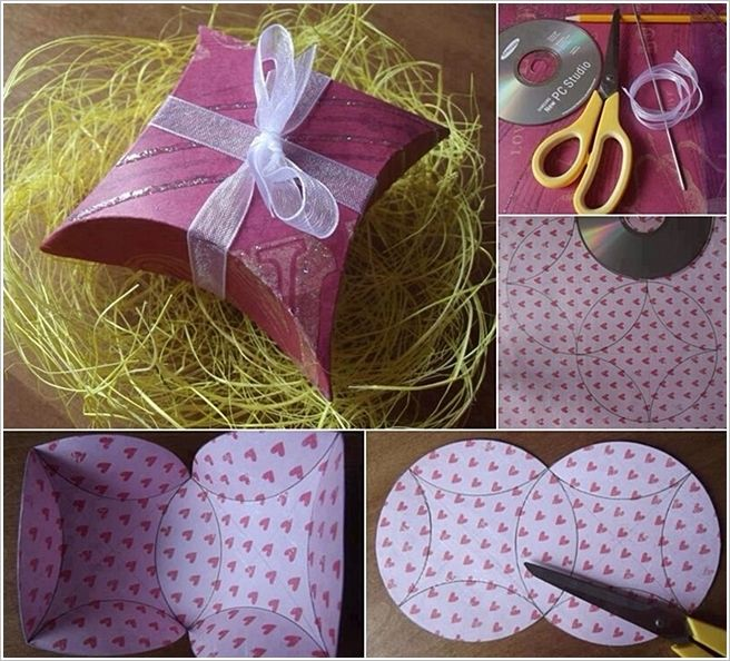 This Beautiful Gift Box is Made with Just a CD - interiordesign - homemade gift boxes templates