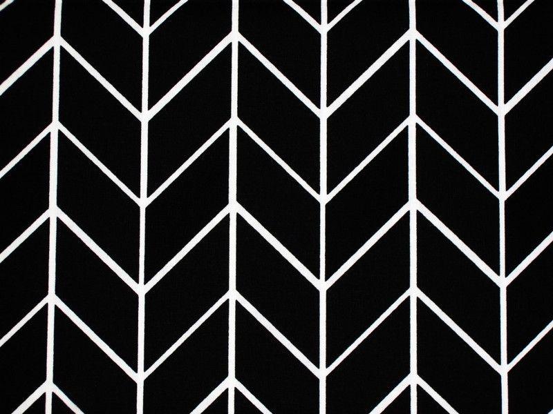 stoff grafische muster baumwoll stoff chevron grafisches muster schwarz ein designerst ck. Black Bedroom Furniture Sets. Home Design Ideas