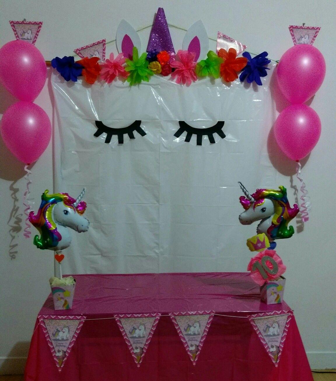 Decoracion de unicornio de forma facil y sencillo cumple - Como hacer decoracion de cumpleanos ...