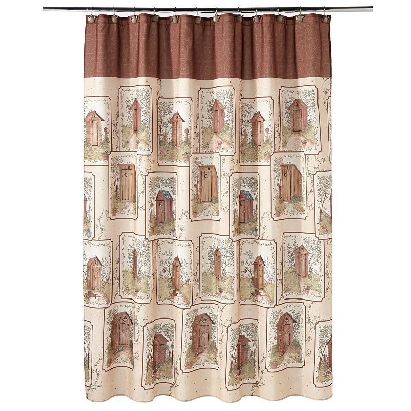 Outhouse Fabric Shower Curtain
