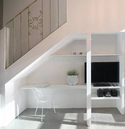 Desk Under Stairs desk under stairs | character apartment | pinterest | desks