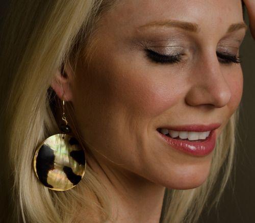 Classic tortoise shell earrings. $30