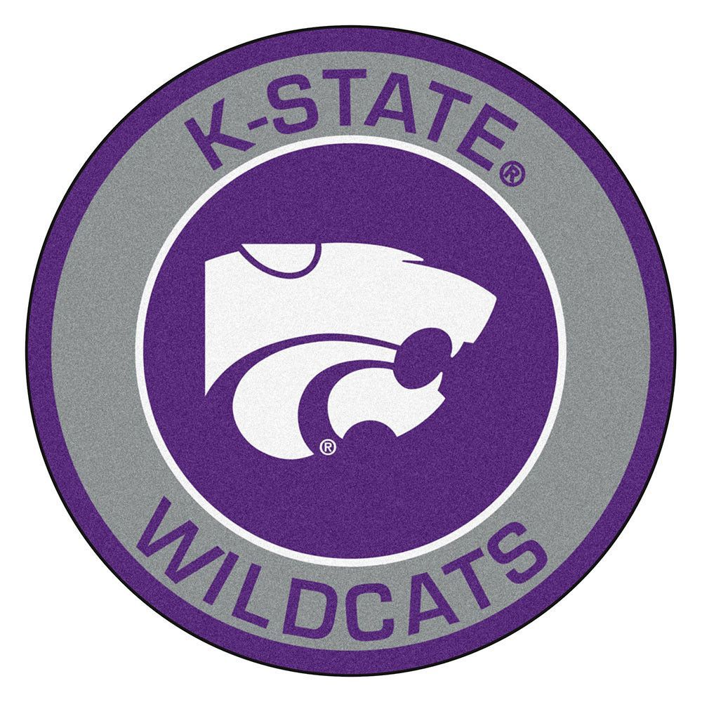 Kansas State Wildcats Rounded Floor Mat (29in)
