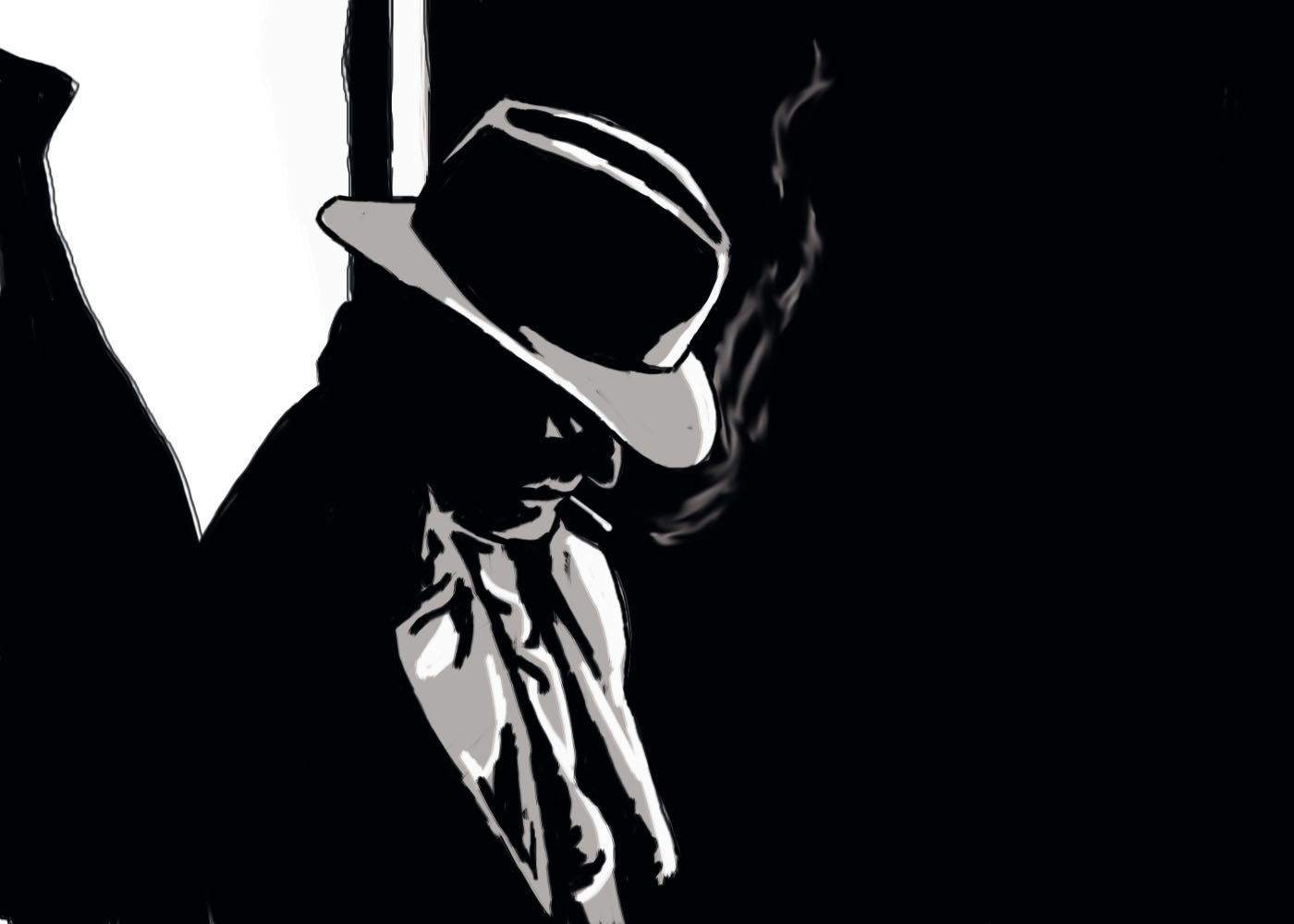 A graphic novel inspired by noir film directors