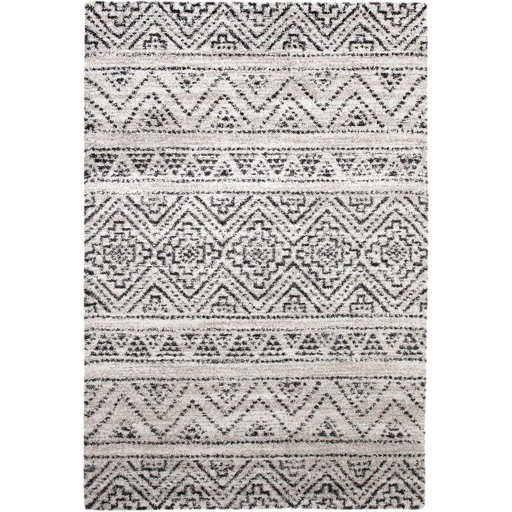 Ivory And Charcoal Gray Area Rug