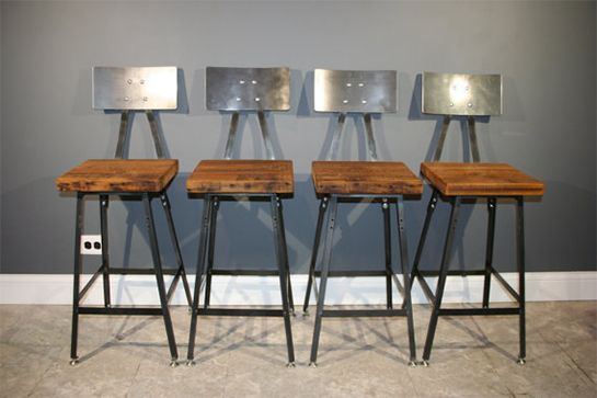 9 Made In Chicago Items To Spruce Up Your Home For Spring Industrial Bar Stools Rustic Outdoor Bar Stools Industrial Bar