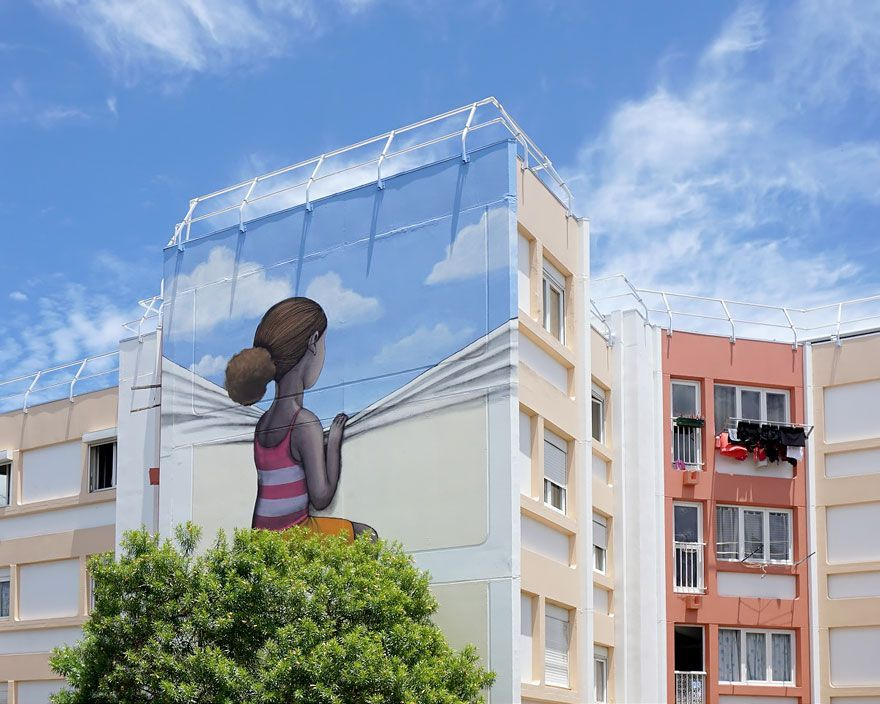 Street Artist Transforms Boring Buildings Around The World Into Works Of Art French street artist Julien Malland, otherwise known as Seth Globepainter, creates colorful street art all around the world.French street artist Julien Malland, otherwise known as Seth Globepainter, creates colorful street art all around the world.