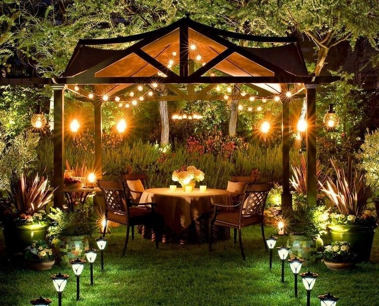 30 Smart Romantic Backyard Decoration Ideas Solar Patio Lights