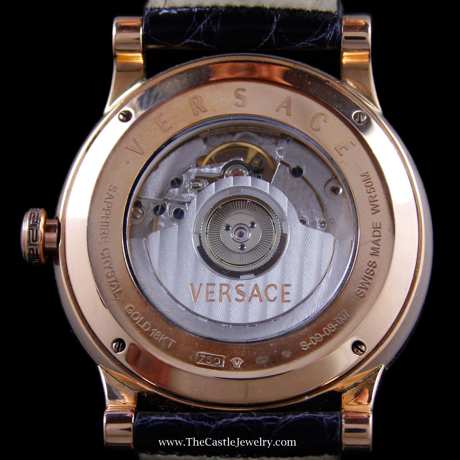 Vintage Retro Bronze Skeleton Automatic Mechanical Mens B Casio G Shock Gst 200cp 9a Versace Acron Big Watch With Date Entire Case Is 18k Rose Gold