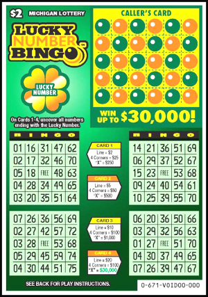 Lucky Number Bingo (Game #671) Scratch the